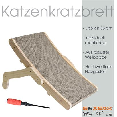 Multifunktions Kratzbrett Kratzmöbel Kratzkarton Katzenkratzbrett Kratzstuhl