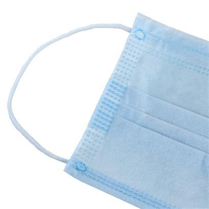 Mundbedeckung Behelfsmaske 50er Spenderbox 3-lagig Set Mund- & Nasen-Maske blau