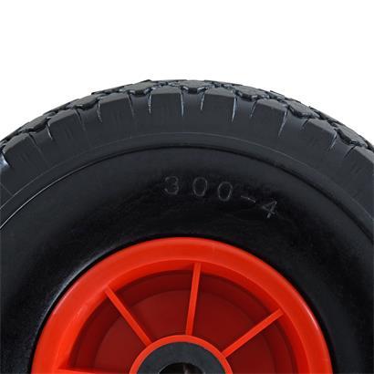 Sackkarrenrad PU 3.00-4 Reifen Ø 260 mm Vollgummi für Sackkarre mit Nadellager