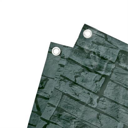 PVC Sichtschutz mit Dekor 6 m