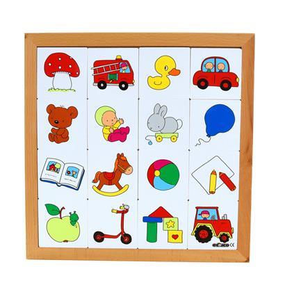 Pairs-Spiel Holz Spielzeug 3er Set Gedächtnisspiel Merkspiel Kinder Memo-Spiel