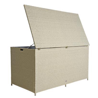 Auflagenbox Poly Rattan XXL Kissenbox Gartenbox Box Aufbewahrungsbox Beige