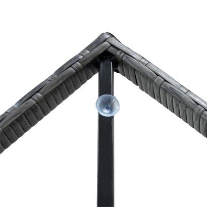 Polyrattan Balkontisch Rattan Tisch Beistelltisch Gartentisch 60 cm Anthrazit-Grau