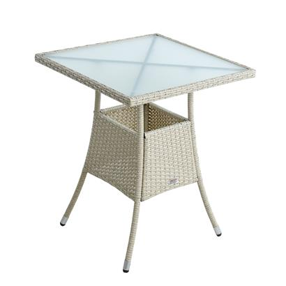 Polyrattan Balkontisch Rattan Tisch Beistelltisch Gartentisch 60 cm Beige