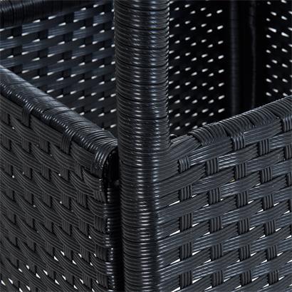 Polyrattan Balkontisch Rattan Tisch Beistelltisch Gartentisch 60 cm Schwarz