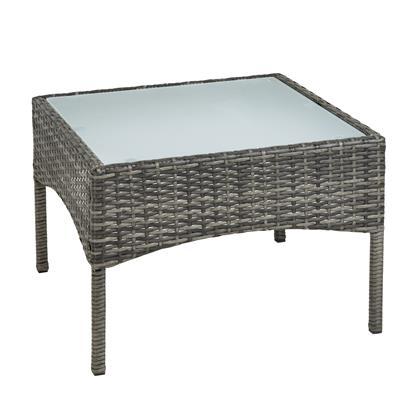 Polyrattan Beistelltisch Rattan Tisch Gartentisch Balkontisch Loungetisch Möbel Anthrazit Grau
