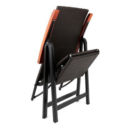 Polyrattan Liegestuhl klappbar