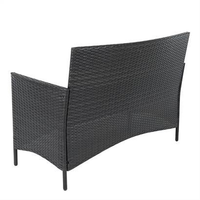 Gartenbank Rattan 2-Sitzer