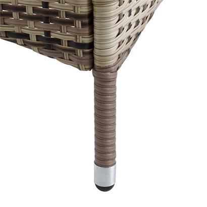 Polyrattan Gartenmöbel Tisch Stühle Rattanmöbel Essgruppe 6 Personen Beige-Braun