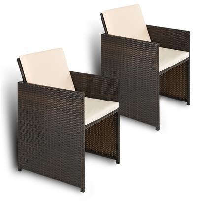 Rattan Gartenstühle Rattan klappbar 2er Set