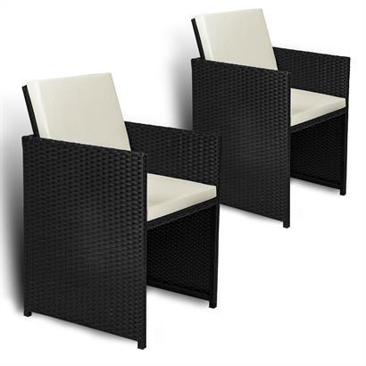 Polyrattan Gartenstühle klappbar 2er Set
