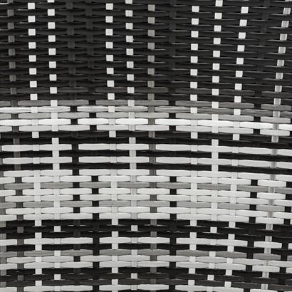 Polyrattan Gartensessel grau braun 2er Set