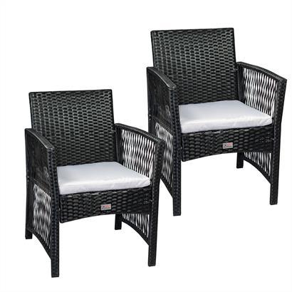 Polyrattan Gartenstühle 2er Set