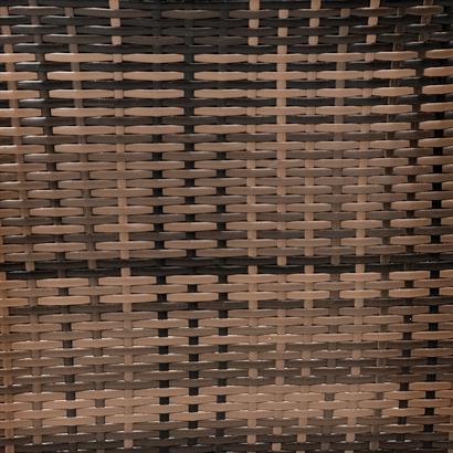 Polyrattan Gartenmöbel Set braun für 4 Personen