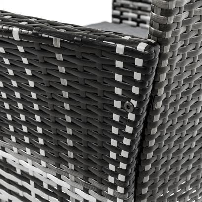 Rattan Gartenmöbel Set grau für 4 Personen