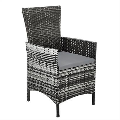 Rattan Gartenmöbel Set grau für 8 Personen