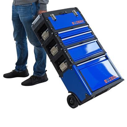 Werkzeugtrolley Werkzeugwagen Premium Werkzeugkoffer Organizer 3 Schubladen