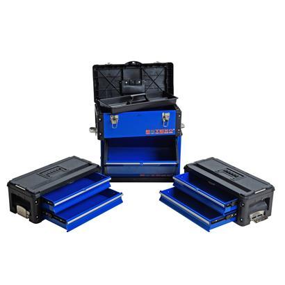 Werkzeugtrolley Werkzeugwagen Premium Werkzeugkoffer Organizer 4 Schubladen