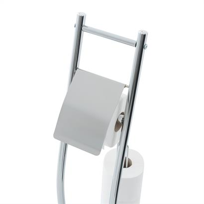 Standtoilettengarnitur mit Toilettenpapierhalter und Toilettenbürste
