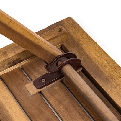 Holz Balkonset mit Klapptisch und 2 Klappstühlen