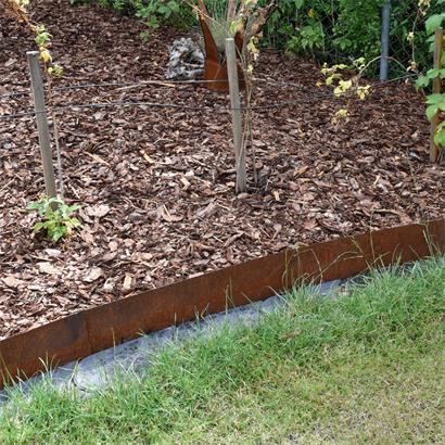 Edel-Rost Rasenkante Mähkante 15 cm x 10 m Hochbeet Beetumrandung Beeteinfassung