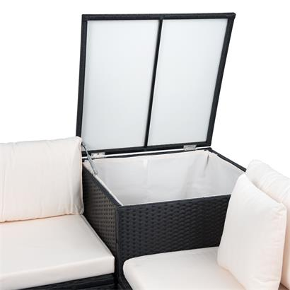 Polyrattan Lounge mit Auflagenbox