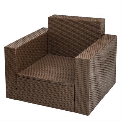Rattan Lounge braun