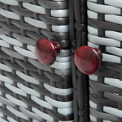 Rattan Poolumrandung grau für Pools bis zu 200 cm Durchmesser