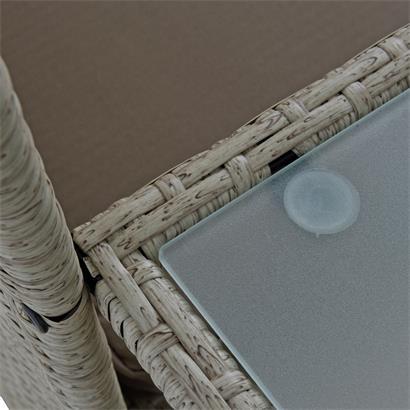 Polyrattan Sitzgruppe Balkon Garnitur Gartenmöbel Gartenset Balkonmöbel Beige