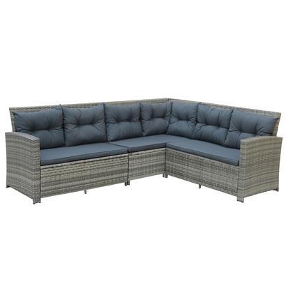 Polyrattan Essgruppe Lounge Möbel Set Sofa Gartenset Gartengarnitur Sitzgruppe