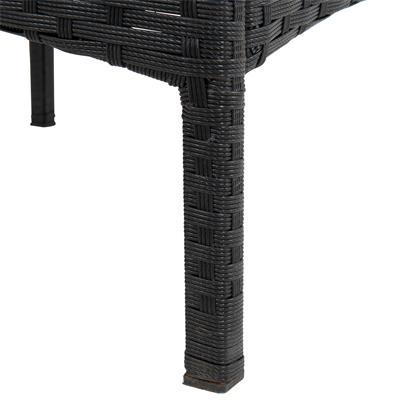 Polyrattan Balkonset schwarz
