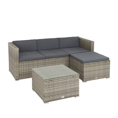 Polyrattan Lounge grau