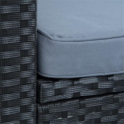 Polyrattan Lounge schwarz für 4 Personen