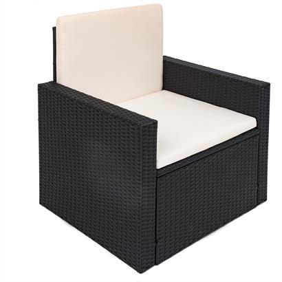 ESTEXO® Rattan Lounge schwarz