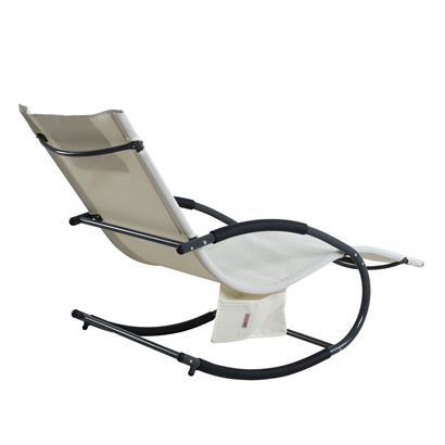Schaukelliege Sonnenliege Liegestuhl Relaxliege Gartenliege Liege Swing Beige