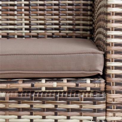 Polyrattan Sitzgruppe Essgruppe Gartenmöbel Lounge Gartengarnitur Beige-Braun