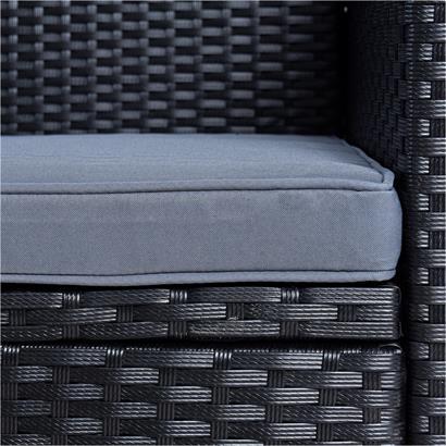 Polyrattan Sitzgruppe Essgruppe Gartenmöbel Set Lounge Gartengarnitur Schwarz