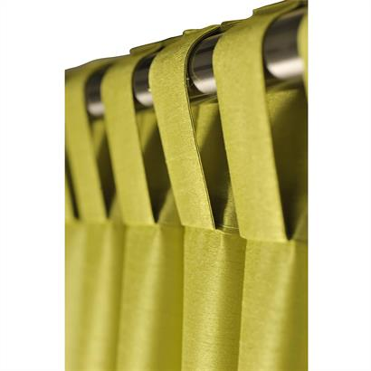 Vorhang mit Schlaufen grün 140 x 300 cm