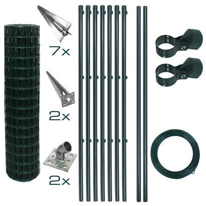 Schweißgitterzaun Komplettset 1,2 x 10m Zaunset Gartenzaun Einschlaghülsen Zaun