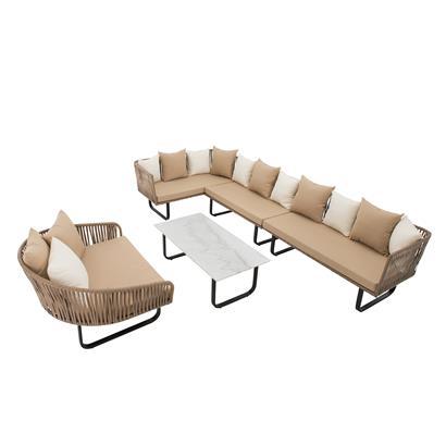 Polyrattan Lounge Set 23-teilig