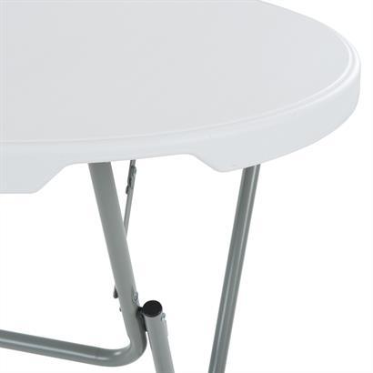 Stehtisch klappbar Ø 80 cm Metall weiß