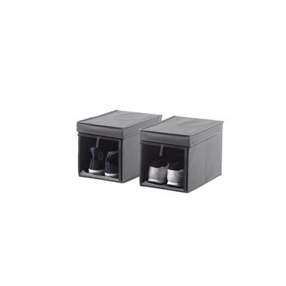 Schuhbox Aufbewahrungsbox faltbar 2er Set