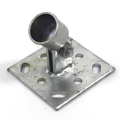 Strebenplatte Ø 34 mm für Bodenhülse Einschlaghülse Zaunpfosten Zaunstreben