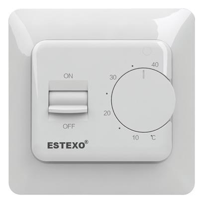 Unterputz Thermostat E73.16 - 16 A analog Raumthermostat für Elektroheizung
