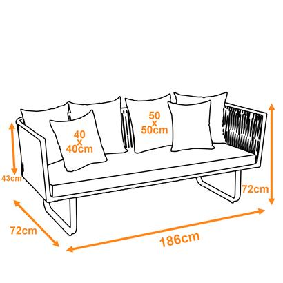 3-Sitzer Sofa Polyrattan