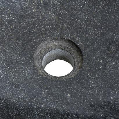 Waschbecken aus Naturstein 40-45 x 15 cm Waschtisch Waschschale Naturstein Grau