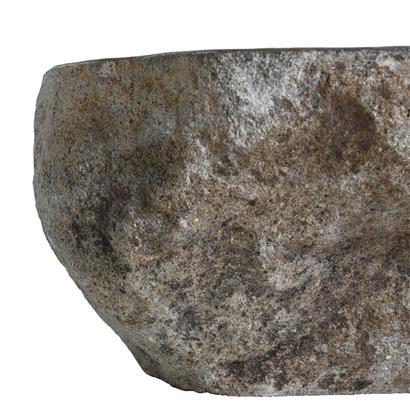 Waschbecken aus Naturstein 45 x 15 cm Waschtisch Waschschale Naturstein Grau