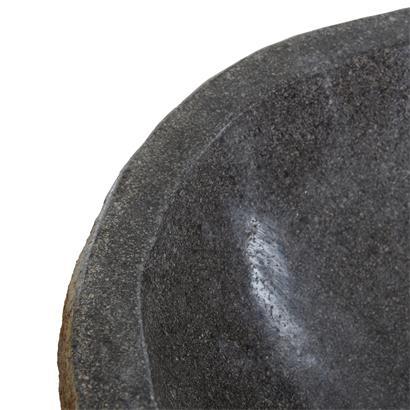 Waschbecken aus Naturstein 40-45 x 15 cm Waschtisch Waschschale Naturstein Beige