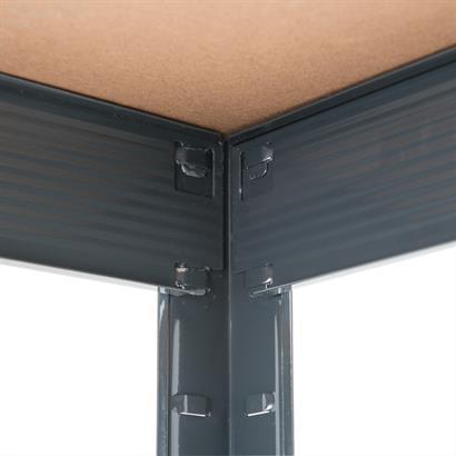 Weitspannregal Steckregal 180 x 160 x 60 cm grau