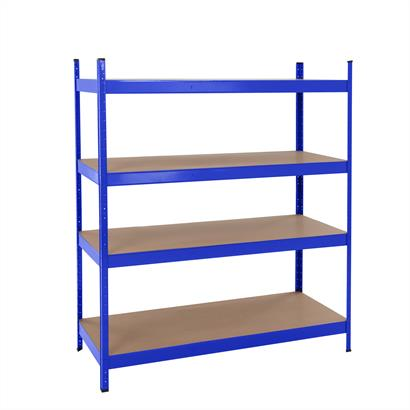 Weitspannregal Stecksystem 180 x 160 x 60 cm blau